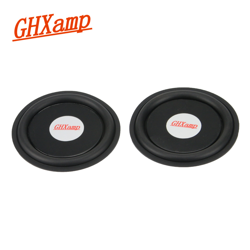 GHXAMP 95MM 4 Inch Rubber Bass Vibration Plate Diaphragm Woofer Radiation Passive Radiator Speaker For Subwoofer DIY 1 Pairs