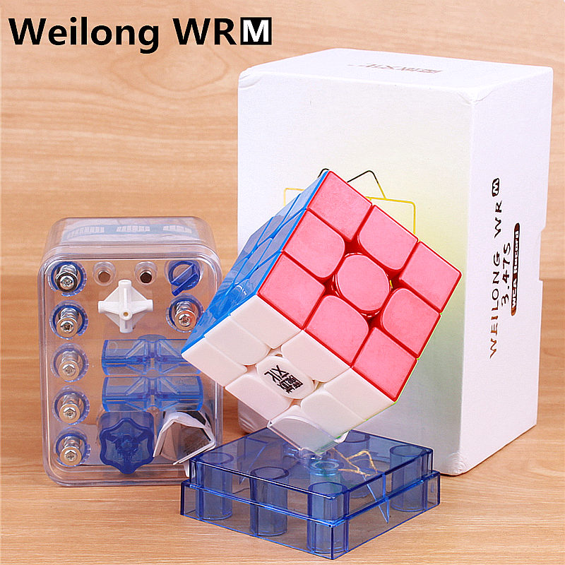 MoYu Weilong WR M 3x3x3 Magnetic Magic Cube Stickerless Professional Puzzle Magnets Speed Cube WRM Toys For Children