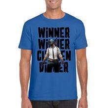 Winner Chicken Dinner T-Shirt,FPS Battleground PUBG Inspired Parody Top New T Shirts Funny Tops Tee Unisex