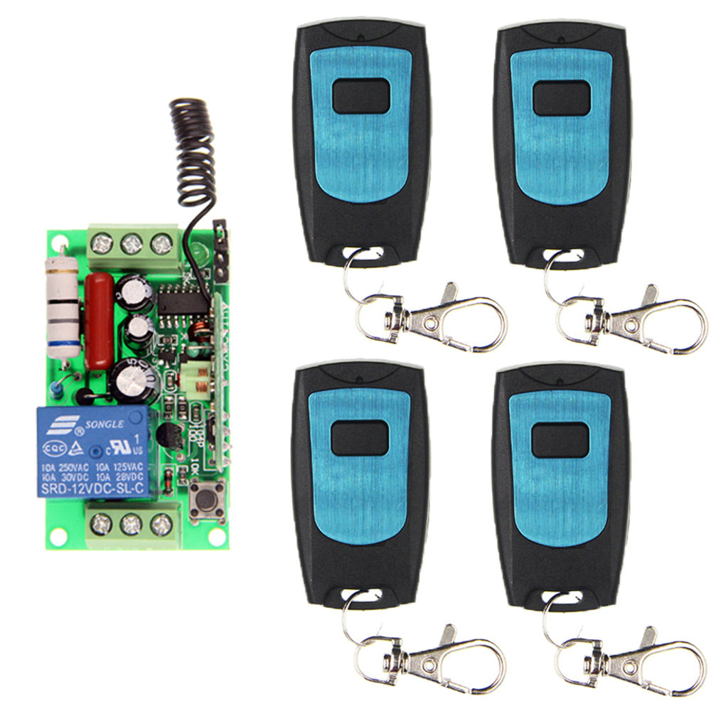 AC 220V 1 CH 1CH RF Wireless Remote Control Switch System,Waterproof Transmitter + Receiver,Momentary Toggle 3000m ac 220v 110v 1 ch 1ch rf wireless remote control switch system 8ch transmitter 8 x receiver toggle momentary 315 433 92