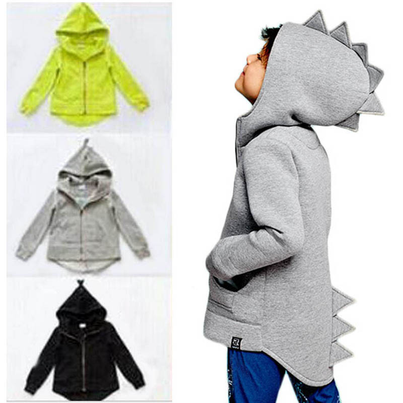 1-7T Boys Girls Hoodies Spring Autumn Outerwear Kids Dinosaur Hooded Sweatshirt Clothes Children Long Sleeve Pullover Tops Coat(China)