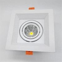 מחיר סיטונאי כיכר 10 W/15 W ניתן לעמעום COB LED Downlight COB LED תקרת מנורות, שקועים LED אור AC85-265V