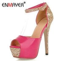ENMAER New 5 Colors Size 34 39 Sexy High Heels Platform Shoes Pumps Women S Dress