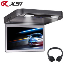 XST 13,3 zoll Auto Decke Dach montieren Dvd Flip Unten 1080 p Video HD Digital TFT Bildschirm USB/ SD/HDMI/MP5/IR/FM Transmitter