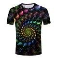 Novo Design 3D Pintura de Computador dos homens T Camisa de manga curta, O Pescoço Camisas Pintadas Moda Malha