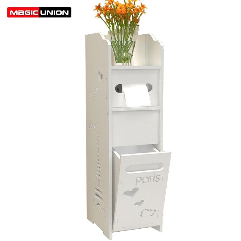 Magic Union Toilet Side Cabinets Bathroom Floorstanding Storage Cabinets Bathroom Cabinets Shelves Toilets Storage Lockers Туалет