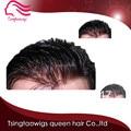 Бесплатная доставка Супер тонкая кожа V цикл фондовые мужчины парик/парик замены волос для мужчин