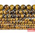 "Envío Libre Natural Yellow Tiger Eye Beads 15.5 ""Elige Tamaño 4mm 6mm 8mm 10mm 12mm 14mm TEB01"