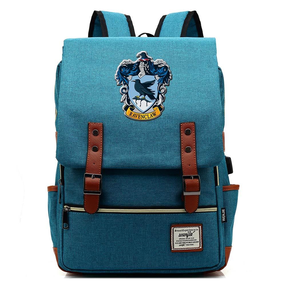 Image 4 - For Vip Link Dropshipping Magic Slytherin Gryffindor Hogwarts Boy  Girl Student School bag Teenagers Women Men USB Belt  BackpackBackpacks