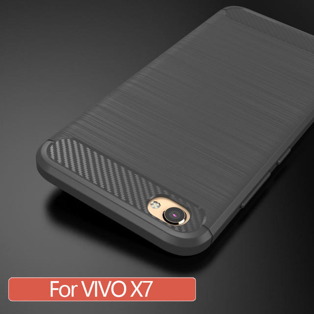 """For BBK/VIVO X7 Case Matte Frosted Soft Silicone Shell 5.2"""" Hybird Armor Phone Cover For vivox7 X 7 Phone Case"""