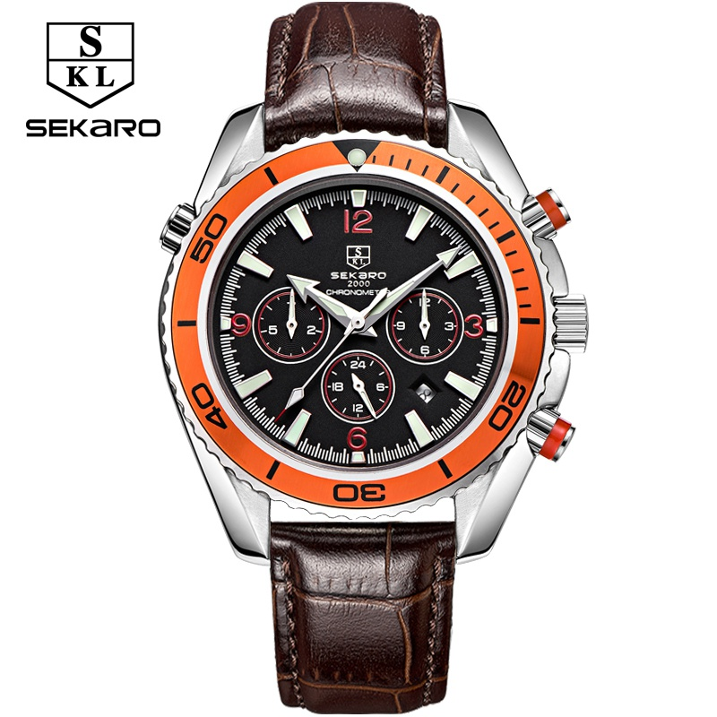 Здесь продается  Sekaro Brand Watches Men Luxury Brand Multiple Functions Calendar For Men Mechanical Wristwatches Man Relogio Masculino SKL-6078  Часы