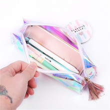 1 Pcs lovely Pu Pencil Case Gift School Box Makeup Bag Supplies Stationery