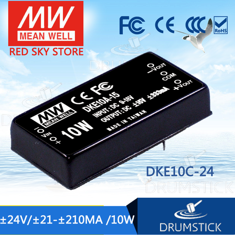 Advantages MEAN WELL DKE10C-24 24V 210mA meanwell DKE10 24V 10W DC-DC Regulated Dual Output Converter