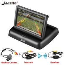 4,3 дюймов беспроводной TFT lcd Автомобильный Монитор складной монитор дисплей обратная парковочная камера для автомобиля Мониторы Заднего вида NTSC PAL