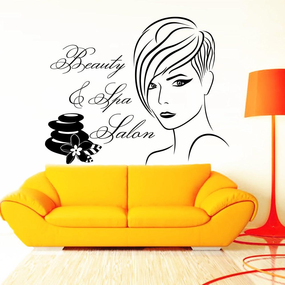 Beauty Hair Salon Barbershop Wall Decal Stickers Cool Short Hair ...