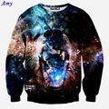 [Amy]  Newest arrival Fashion Men Funny 3d sweatshirts Terrible ferocity animals printed hoodies galaxy hoody tops WY39