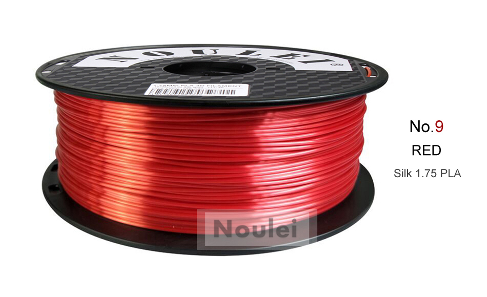 9 3D Printer Filament 1.75 SILK PLA RED