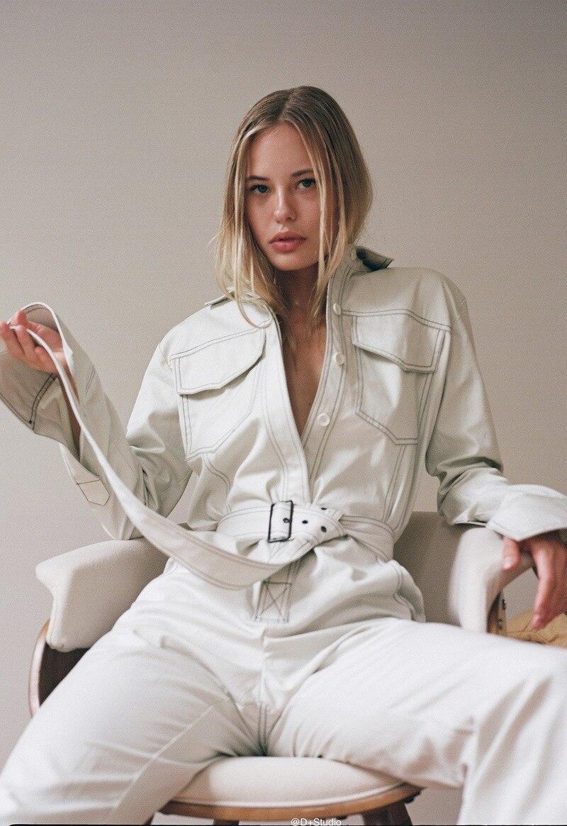 Salopette Longues Manches Noir Body 2018 Pantalon Ceinture Outillage Nouveau Casual À Automne De marron Camouflage Streetwear blanc Harajuku Femmes Bib ww6FBv4q