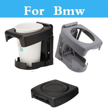 Car Folding Beverage Drink Bottle Cup Mount Stand Drink Holder For Bmw 1 3 5 7 Series E36 E46 E60 E70 E40 E90 F30 F10 image