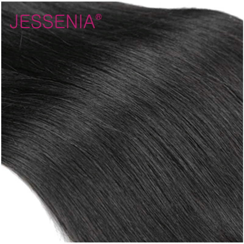 JESSENIA HAIR 3 Bundles Indian Hair Straight Human Hair Weaves Natural Color Remy Hair About 100g/Bundle For Free Shipping