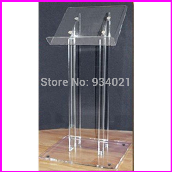 Free Shipping Acrylic Podium Lectern / Clear Acrylic Church Podium / Perspex School Lecturen Plexiglass