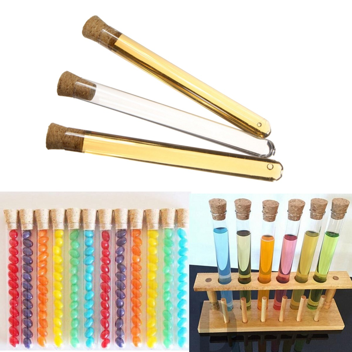 Plastic tubes for crafts - Plastic 50pcs 20ml Test Tubes Corks Party Candy Sugar Container Events Party Catering Crafts Accessories Events