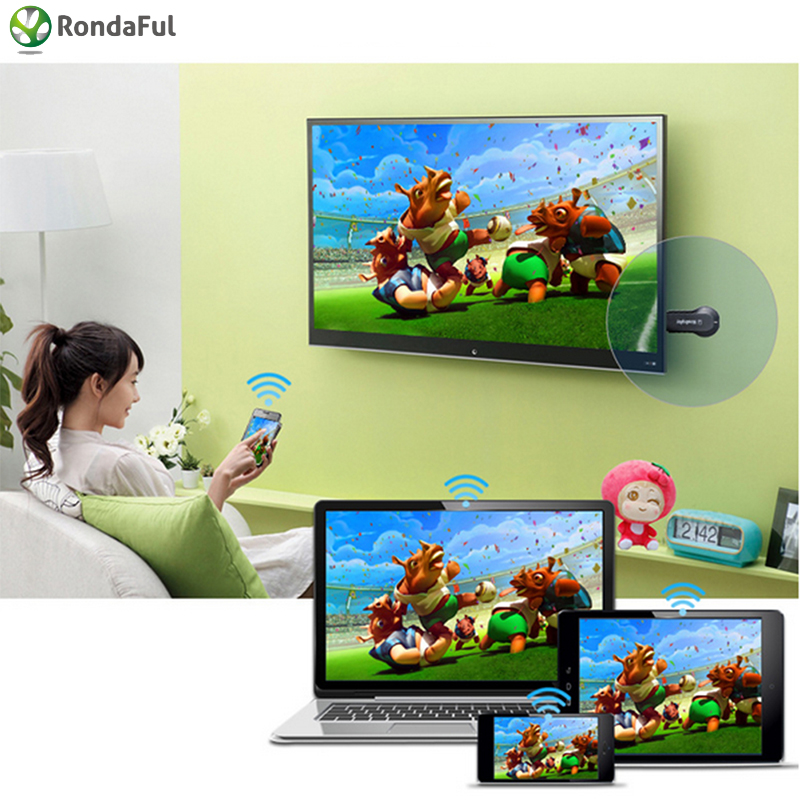 Θέαμα Miracast HDMI WIFI Δέκτης DONGLE Airplay Δέκτης Full HD 1080P DLNA Adapter TV Stick