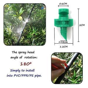 Image 2 - 50 adet/grup 180 derece mikro bahçe çim su püskürtme Misting memesi yağmurlama sulama sistemi