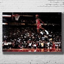 Q0528 pósteres e impresiones Michael Jordan famosa línea Foul Dunk Vintage lw-canvas 24x36in Póster Artístico de lienzo pintura decoración del hogar