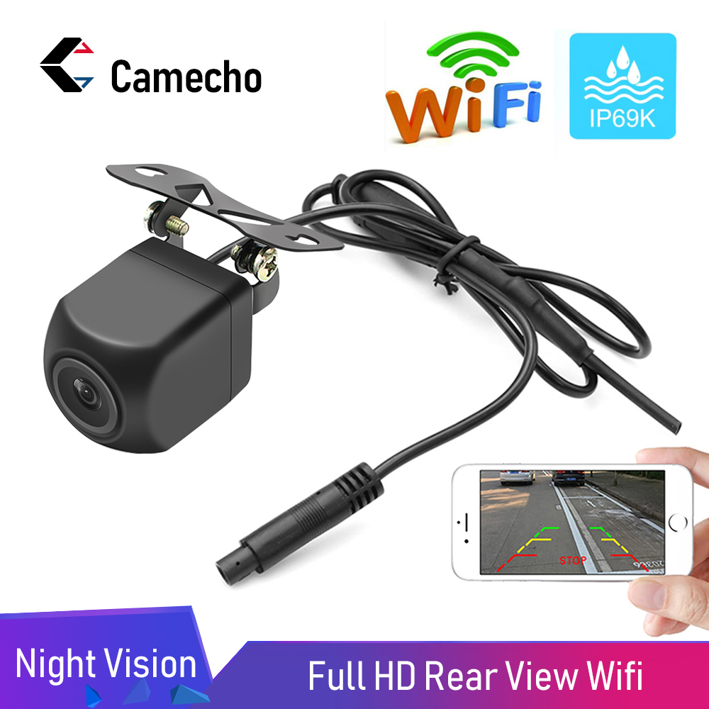 Camecho WiFi Backup Camera 1080P Full HD Revsersing Camera Compatible with iPhone//Android//Tablet