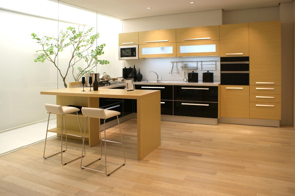 Kitchen Cabinet Material L Shape Wood Kitchen Cabinet In Kitchen Cabinets From Home Improvement