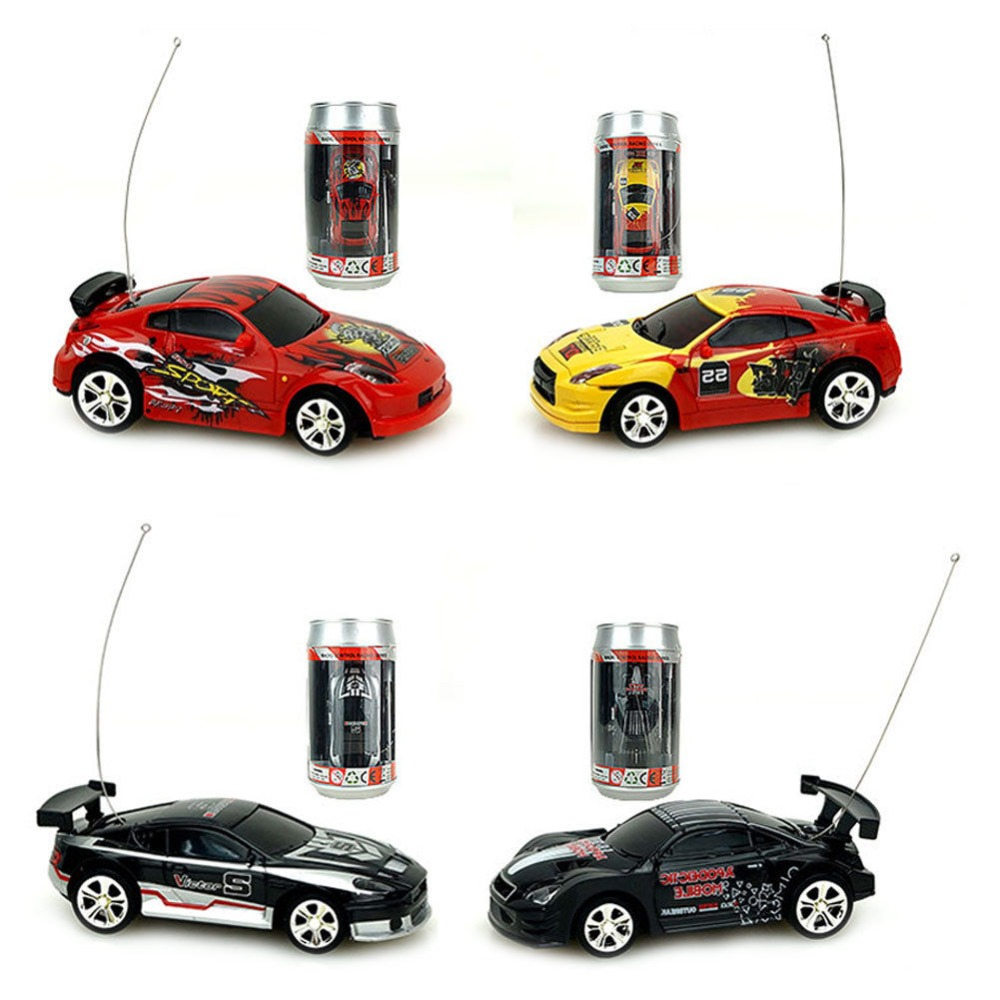 Coke Can Mini Speed RC Radio Remote Control Micro Racing Car Toy Gift New OAX Batteriebetriebene Fahrzeuge