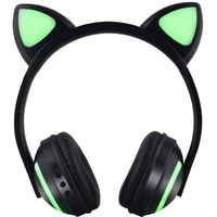 Anime Cat Ears Earphones Head Mounted Luminous Wireless Bluetooth Headset For Playing Games, Listening To Music, Sports Etc.