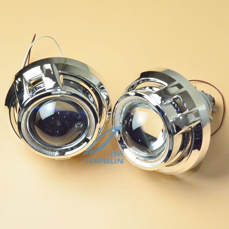 2 pièces D'origine Q5 Lentille De Projecteur avec des Yeux D'ange et Coques Bixenon Phare modèle pour D1S, D2S, D3S, D4S