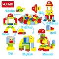 Huimei 29 unids cambio assembied zoológico jirafa anmimal robot building block diy clásico de ladrillo juguetes para niños compatibles con duplo legoe
