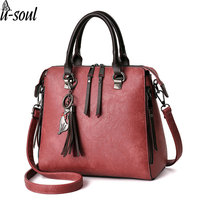 Bag Ladies Pu Women Leather Handbags Tassel Women Messenger Bags Large Capacity Purse Female Totes A2784