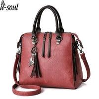 Bag Ladies Pu Women Leather Handbags Tassel Women Messenger Bags Large Capacity Purse Female Totes A2784