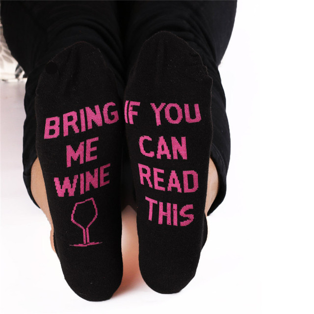 Funny lettered Ankle Cotton Socks