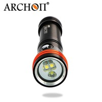 ARCHON D15VP 100M Diving Flashlight Video Spot Light White Red LED 1300 Lumens 110 / 30 Degree 100M Underwater Flashlight