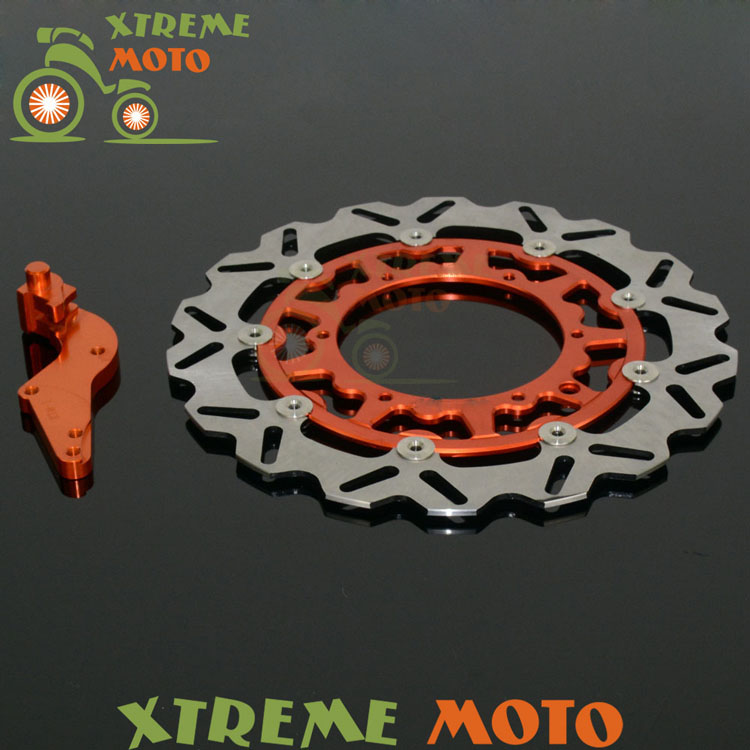320 Flaoting Brake Disc + Bracket For KTM SX XC XCW SXF XCF XCW XCFW EXC 125 144 150 200 250 300 350 400 450 505 530 Motocross billet axle blocks chain adjuster for ktm 125 150 200 250 300 350 400 450 500 505 525 530 exc exc f xc w xcw xcf w 2000 2015