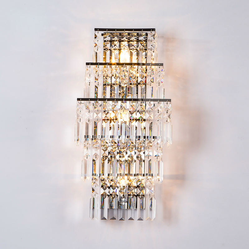 Crystal Wall Light led Corridor Light Crystal Wall Lamp Chrome Modern Wall Sconces Lighting Bedside Lamp