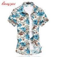 Men Korean Shirts Brand Summer Short Sleeve Plus Size 5XL 6XL Social Mercerized Cotton Dress Shirts