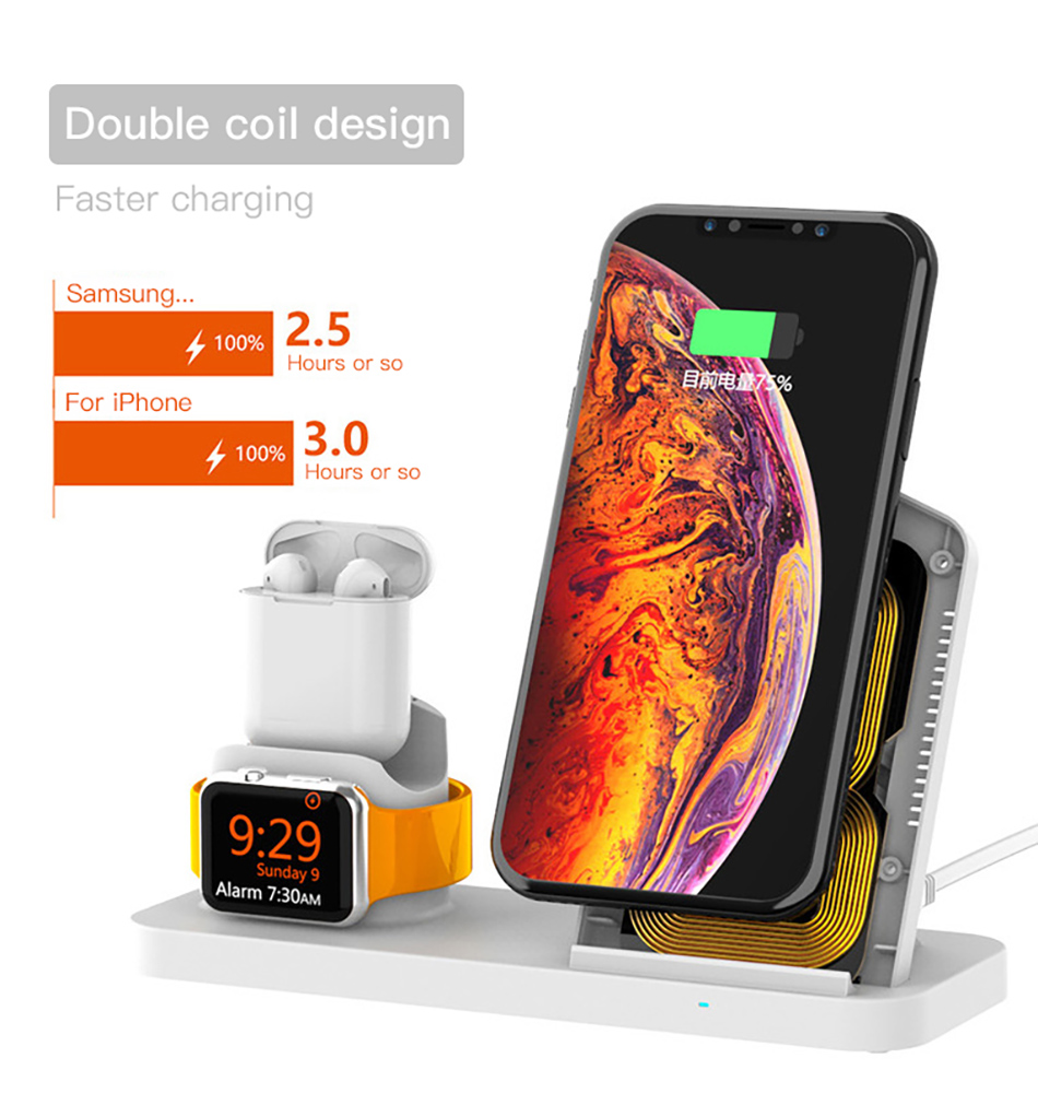 !ACCEZZ Fast Wireless Charger For Apple Watch 1 2 3 4 For iphone XS MAX XR X Samsung Xiaomi Phone Magnetic Charger For Airpods 2 (5)