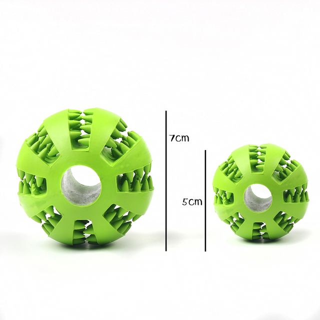 Interactive Pet Soft Dog Treat Chew Toy Ball with Extra-tough Rubber 1