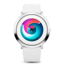 Time2U Ladies Fashion Concept Minimalist Colorful Dial Business Women Quartz Watch Wristwatch