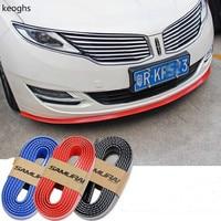 Length 2 5M Wide 6cm Universal Carbon Fiber Universal Auto Rubber Mouldings Rubber Bumper Protector Car