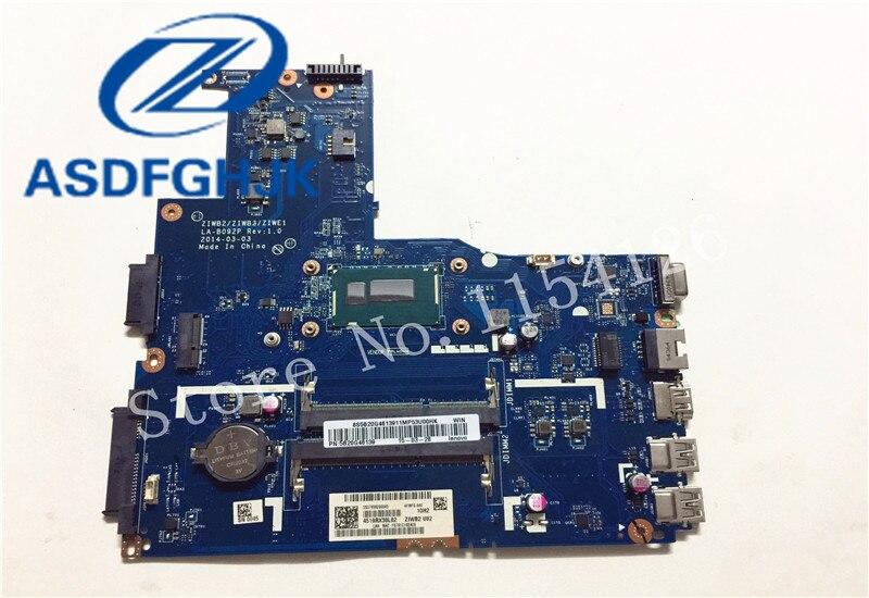 bilder für Laptop motherboard für Lenovo B50-70 ZIWB2 ZIWB3 ZIWE1 LA-B092P mit SR1EN Core i3-4030U DDR3 integrierte motherboard 100% test