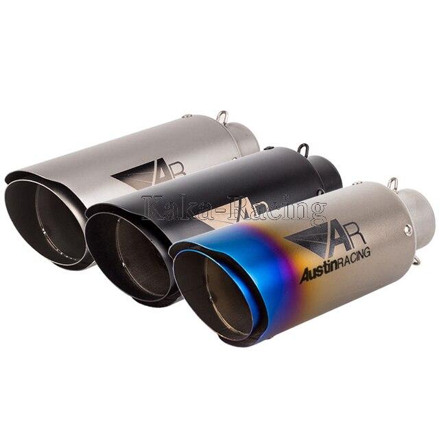 US $24 92 11% OFF|ID: 51mm / 61mm Universal Motorcycle Laser AR Austin  Racing Exhaust Muffler Pipe Escape For Yamaha Honda KTM Kawasaki Ducati -in