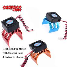 SURPASS HOBBY RC Heatsink for 540/550/3650/3660/3670/3674 Motor Heat sink with Black Cooling Fan 1/10 HSP HPI tamiya  FS