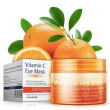 Orange Vitamin E Dark Circle Remover eye mask women Collagen